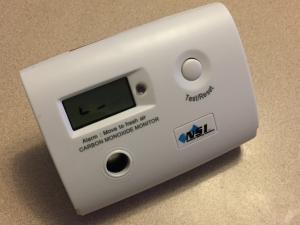 photo of a low level carbon monoxide detector
