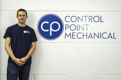photo of Chris Cote, HVAC technician assistant at CPM of Shrewsbury MA
